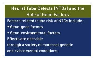 gene-gene factors and gene-environmental factors