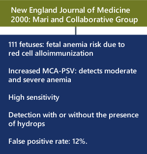 MCA Doppler and Fetal Anemia Collaborative Group Report