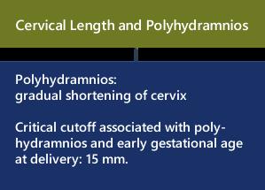 shortening of cervical lengt polyhydr