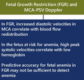 fetuses at risk for anemia