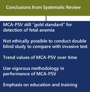MCA-PSV still gold standard for detection of fetal anemia